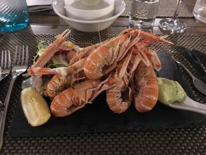 Delicious freshly caught langoustine