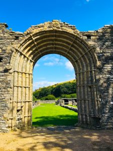 Medieval abbey arch
